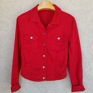 Tinseltown Red Stretch Denim Jacket